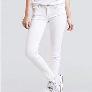 "Levi's White Midrise Skinny ""Legging"" Jean Size 27"